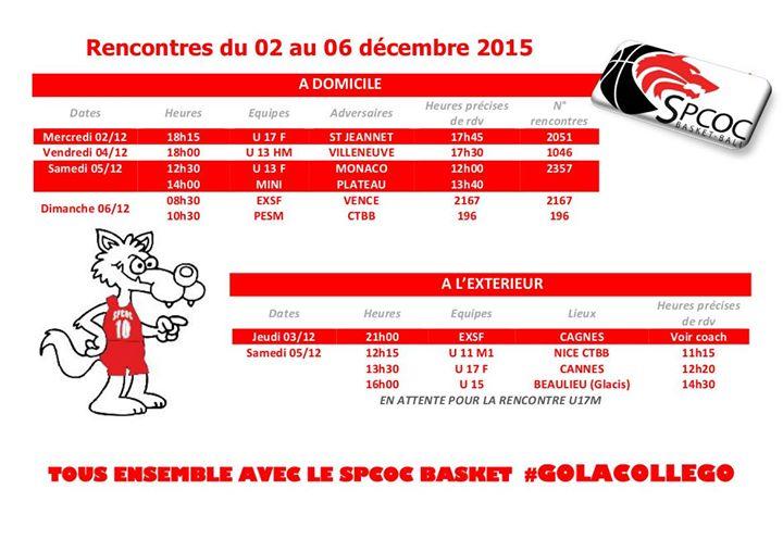 Matchs we 6-7 décembre