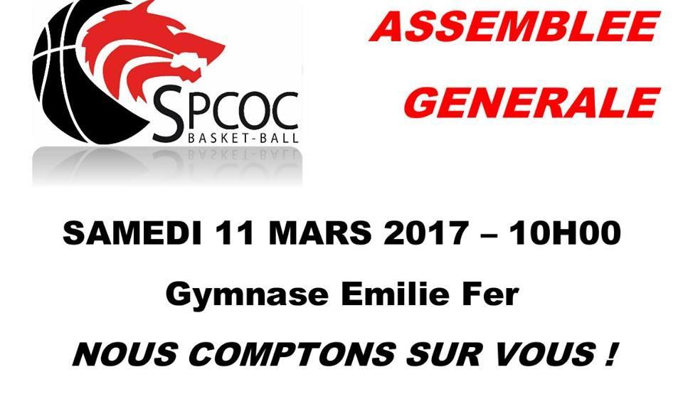 Assemblée générale le 11 mars 2017 à 10h