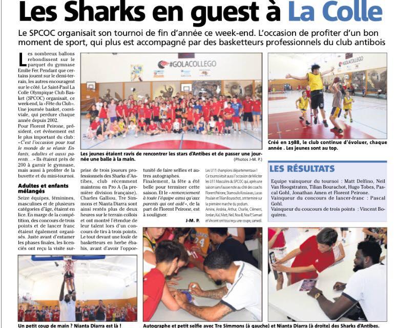 Les sharks en guest à la Colle