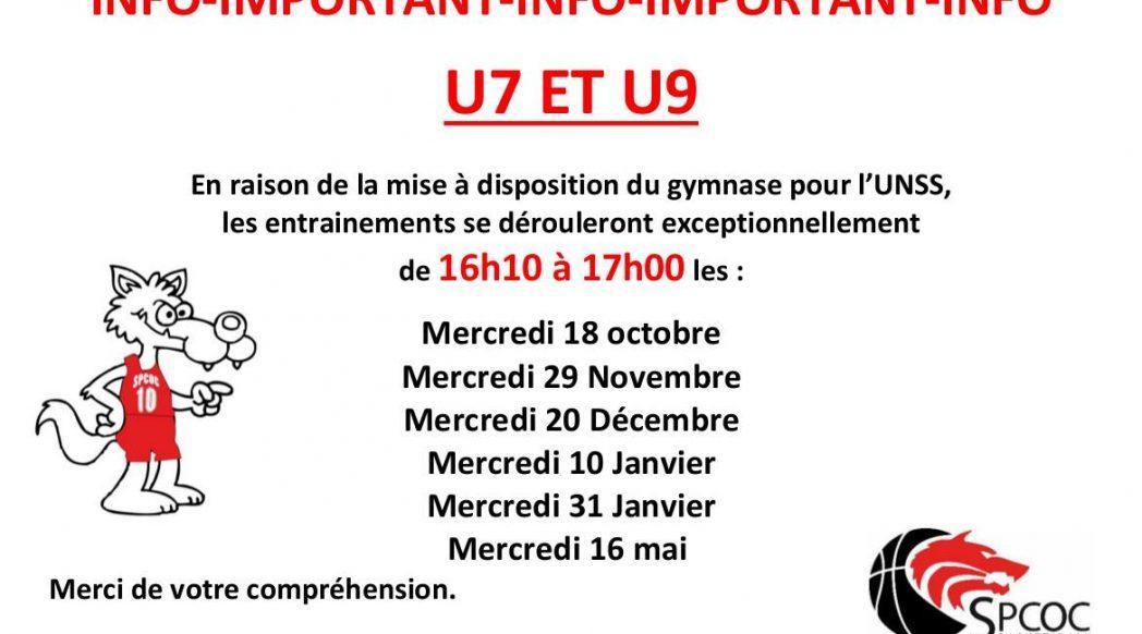 U7 et U9 entrainement 16h10