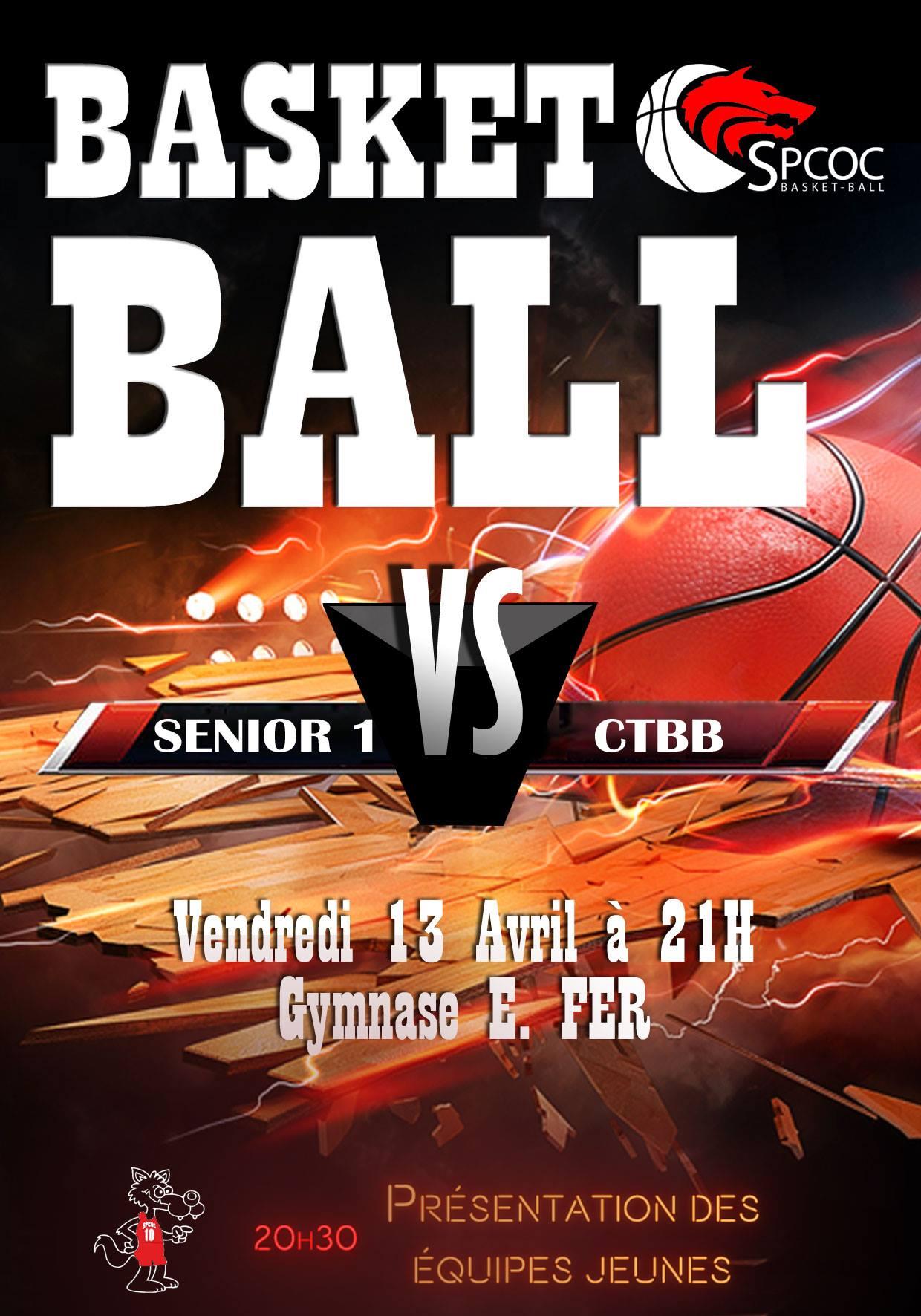 Match senior 1 vs CTBB