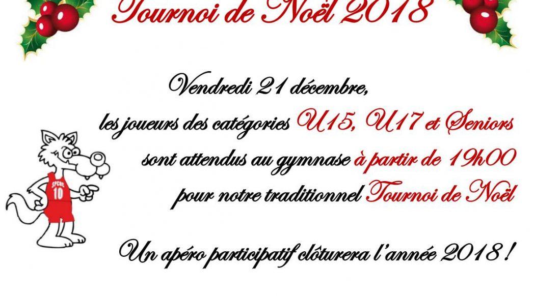 Tournoi de Noël U15-U17-Senior